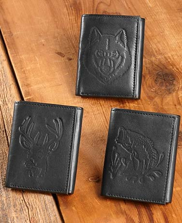 Men's Leather Trifold Wallets