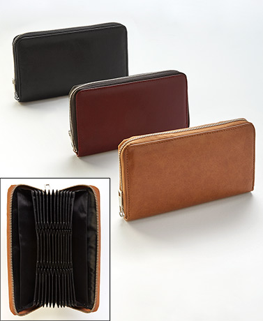 36-Slot Leather Credit Card Wallets