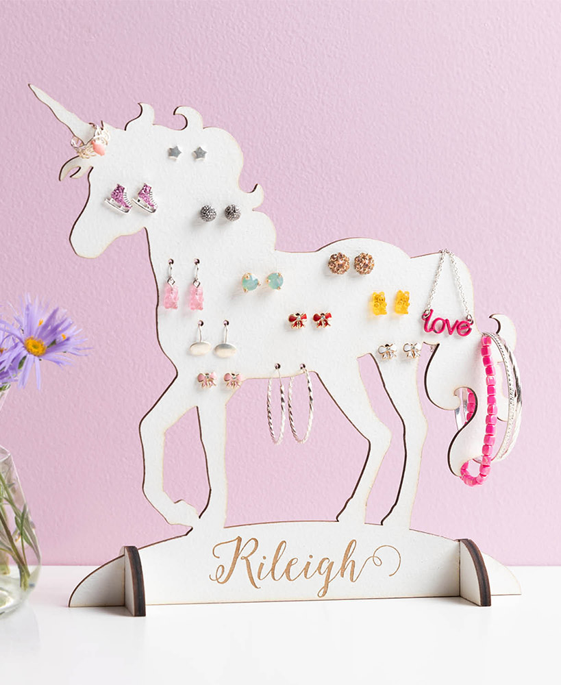 Magnifying Personalized Unicorn Jewelry Holder