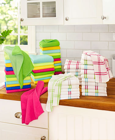 Waffleweave or Microfiber Cleaning Cloths