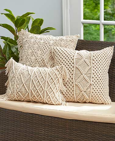 Macramé Cotton Decorative Pillows