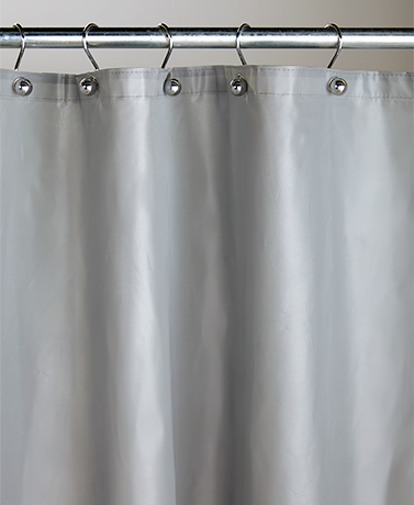 Weighted Shower Curtain Liners with Grommets