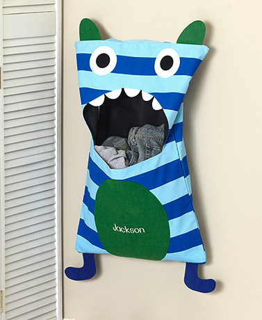 Kids' Personalized Monster Laundry Hampers