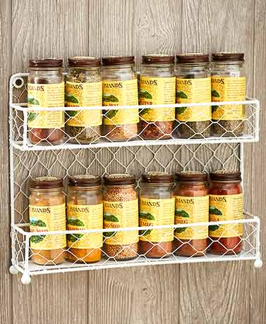 Farmhouse Chicken Wire Spice Racks