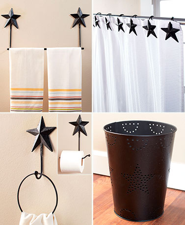 Metal Barn Star Bathroom Decor Collection
