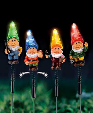 Gnome Solar Garden Stake Lights