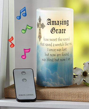 Amazing Grace LED Remote Control Candle
