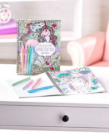 Themed Coloring Books with Pastel Markers
