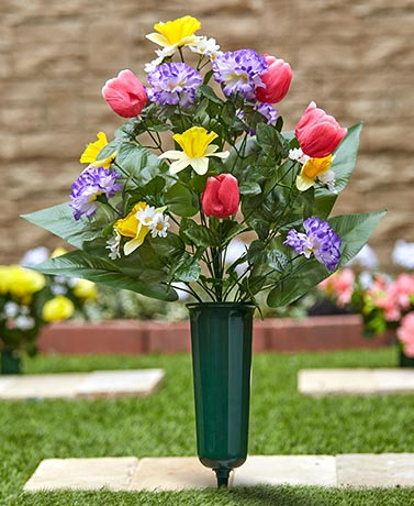 Seasonal Memorial Flower Vases