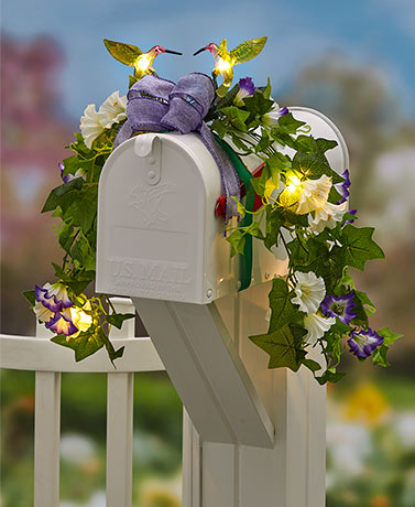 Themed Solar Mailbox Swags