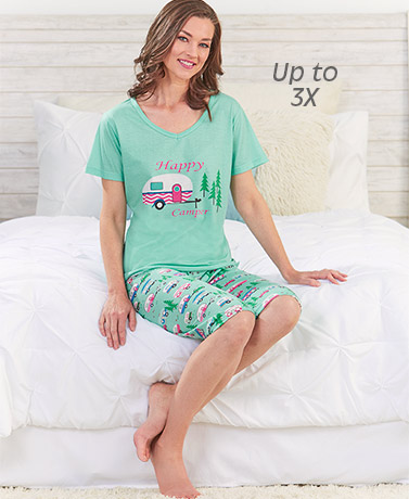 Women's Happy Camper Pajama Set
