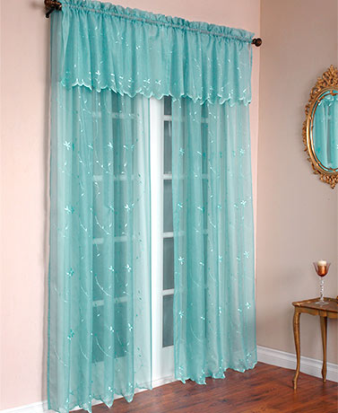 Roslyn Embroidered Sheer Curtain Collection