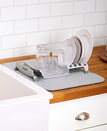 Dish Drying Rack and Mat Combos