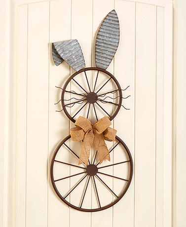 Bicycle Wheel Bunny Wall Decor
