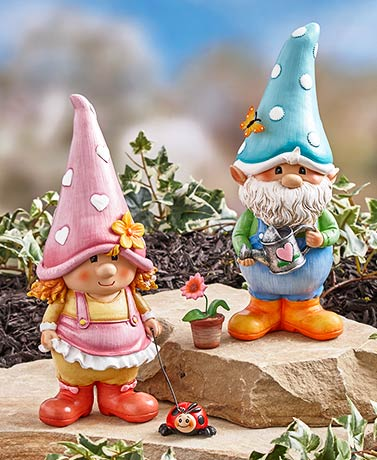 Garden Gnome Friend Statues