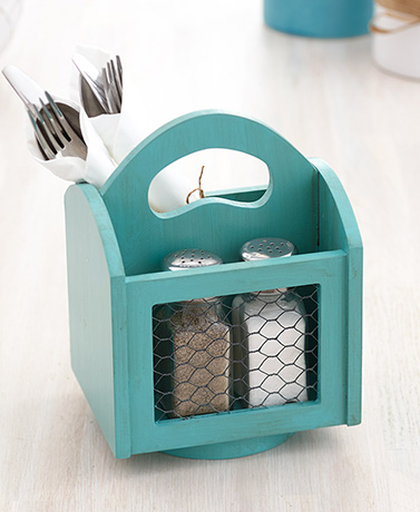 Rotating Farmhouse Flatware Caddies
