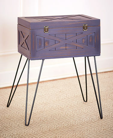 Trunk Style Accent Tables with Storage