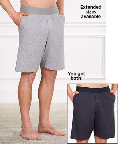 Men's Set of 2 Knit Lounge Shorts