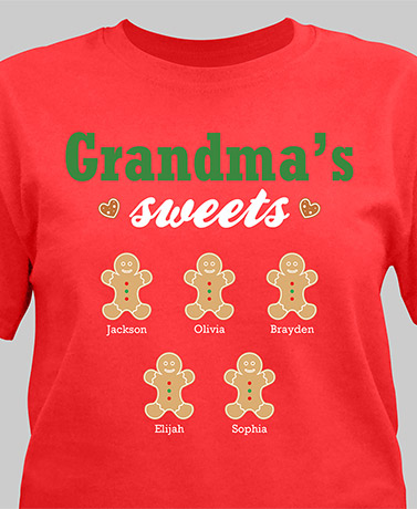 Personalized Grandma's Sweets T-Shirt or Coffee Mug