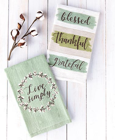 Sets of 2 Farmhouse Kitchen Towels