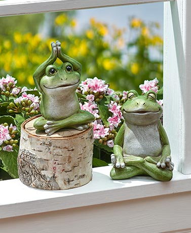 Set of 2 Yoga Frogs