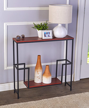 Slim Console Table with Display Shelf