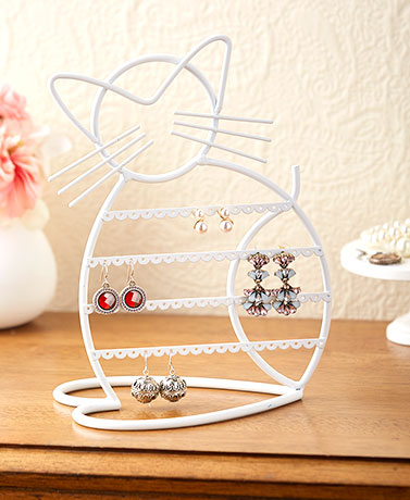 Cat Silhouette Jewelry Stands
