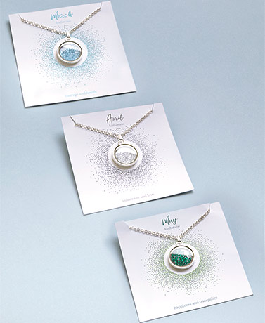 Floating Birthstone Locket Necklaces
