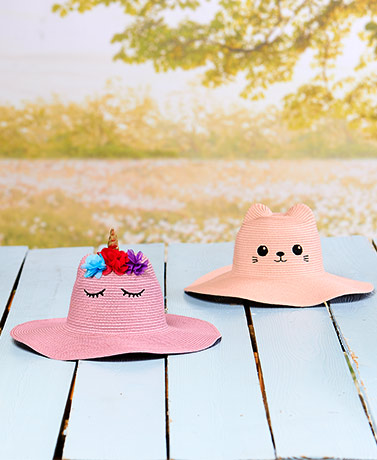 Girls' Critter Sun Hats