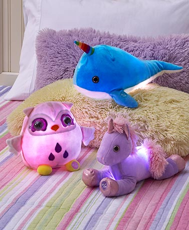Color-Changing Light-Up Plush