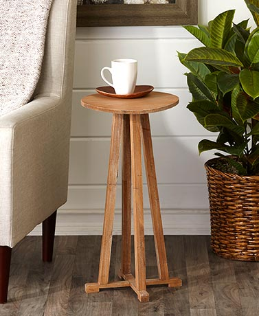 Distressed Wood Side Tables