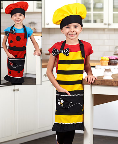 Kids' Apron and Chef Hat