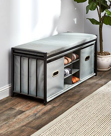 Storage Bench with Shoe Organizer