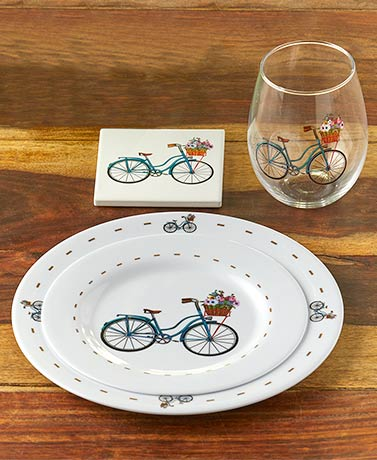 Springtime Bicycle Tabletop Collection