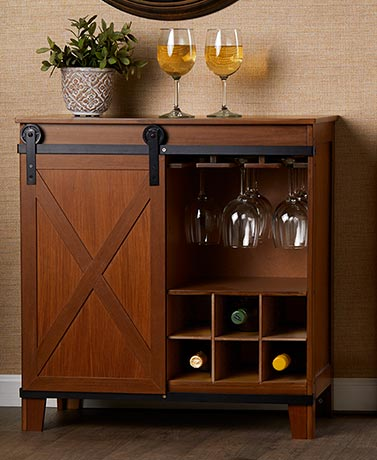Barn Door Wine Storage Cabinets