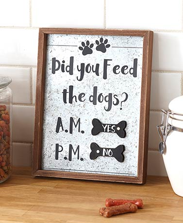 Feed the Dog Reminder Sign