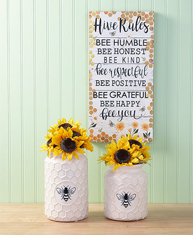 Ceramic Honeycomb Vases