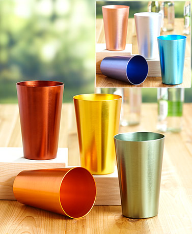 Sets of 4 Jewel-Toned Aluminum Tumblers