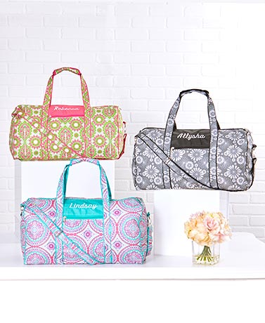 Personalized Patterned Duffel Bags