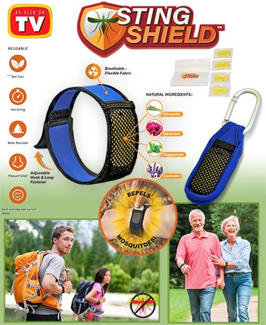 Sting Shield Repellent Bracelet and Clip