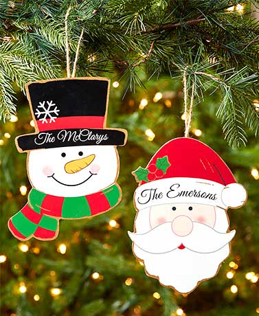 Personalized Jumbo Christmas Ornaments