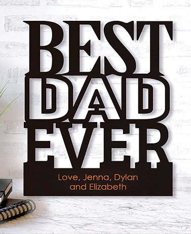 Personalized Best Dad Wood Plaques