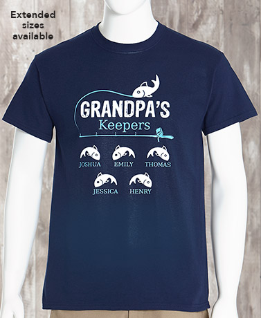 Personalized Grandpa's Keepers T-Shirt