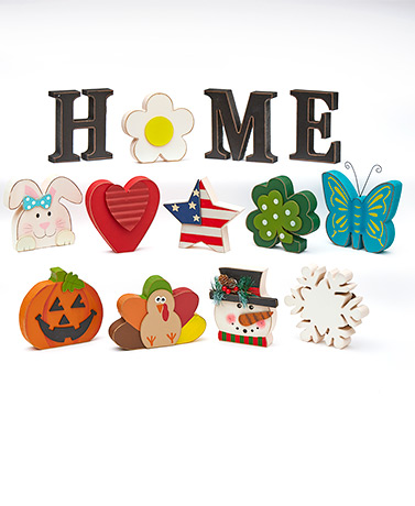 Interchangeable Home Sentiment or Icon Sets