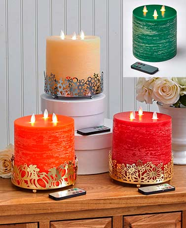 3-Wick LED Scented Candles or Candleholders