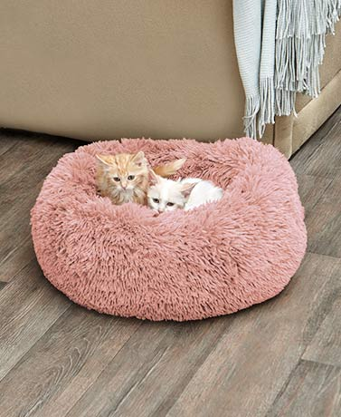 Plush Donut Pet Beds