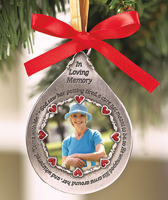 Female Photo Memorial Ornament