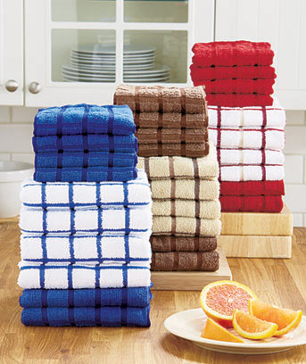 Charmant 10 Pc. Terry Kitchen Towel Sets