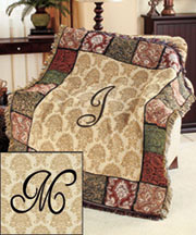 Monogram Tapestry Throws