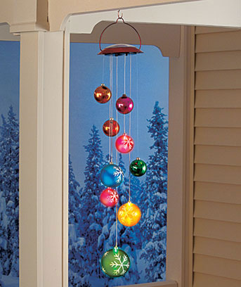 Solar Holiday Ornament Mobile